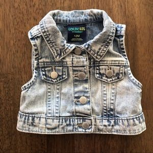 Whitewashed 12M Jean vest